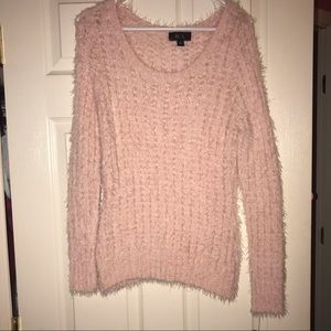 Light pink fluffy sweater
